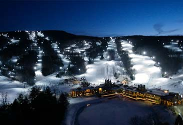 skii resort lighting